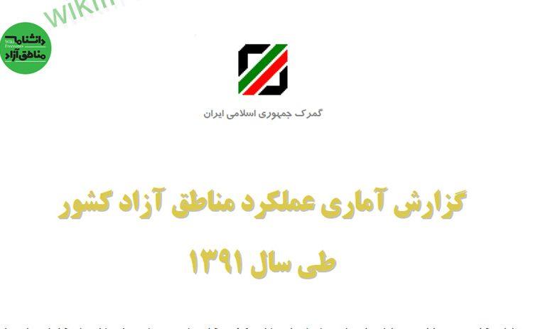 سند: گزارش آماری گمرک از عملکرد مناطق آزاد کشور طی سال ۱۳۹۱
