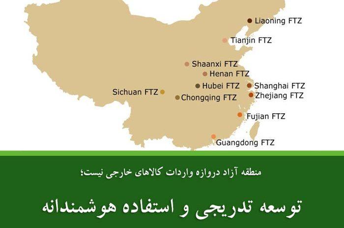 توسعه تدریجی و استفاده هوشمندانه از مناطق آزاد تجاری در چین