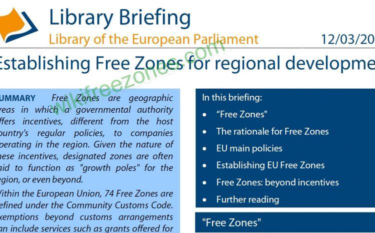 سند: تاسیس مناطق آزاد برای توسعه منطقهای