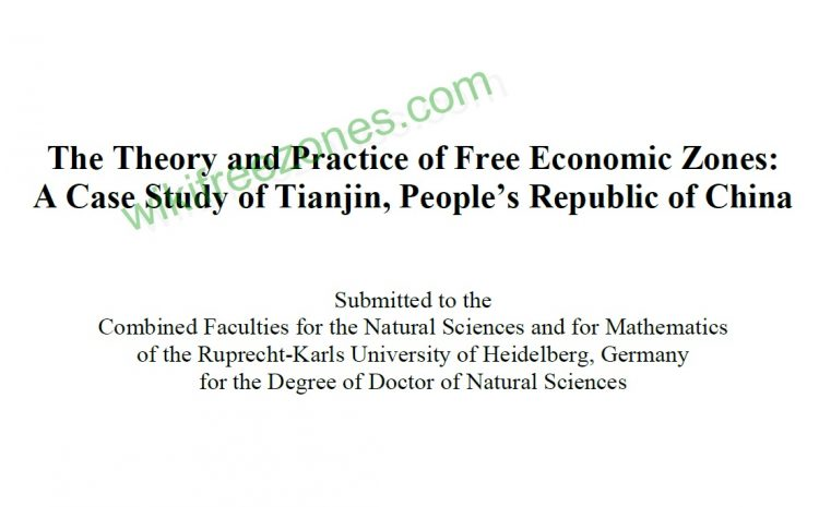 سند: نظریه و عملکرد مناطق آزاد اقتصادی: مطالعه موردی تیانجین ، جمهوری خلق چین