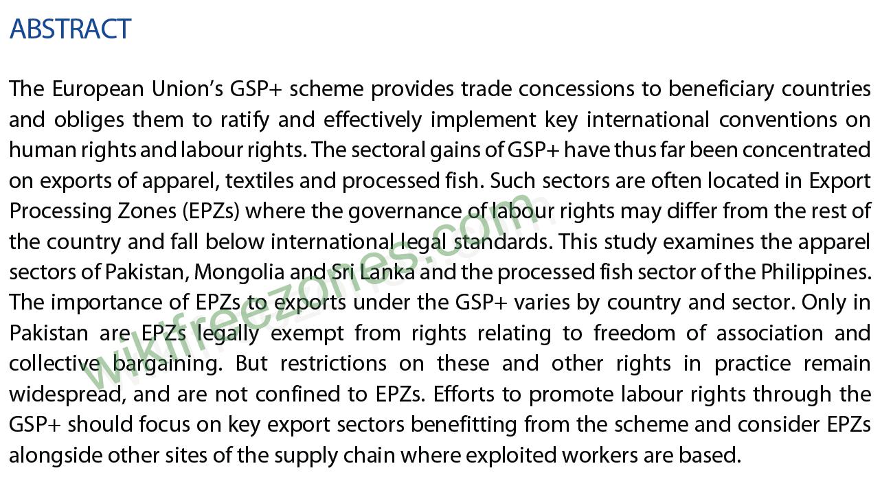 چکیده مقاله حقوق کار در مناطق پردازش صادرات