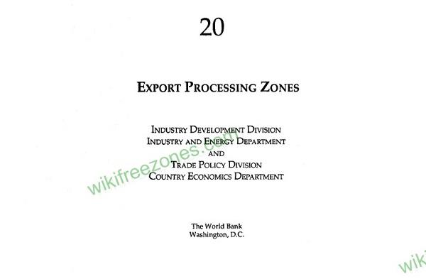سند: مناطق پردازش صادرات؛ تهیه شده توسط بانک جهانی