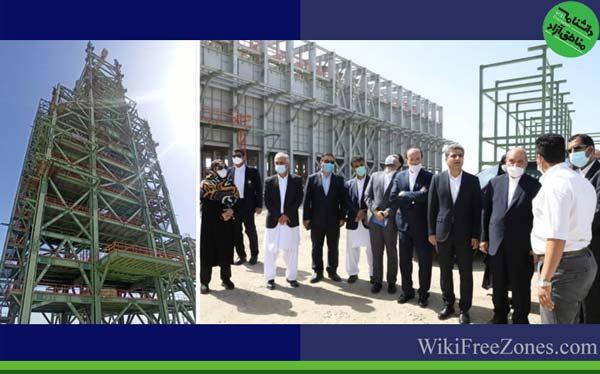 بازدید دبیر شورای عالی مناطق آزاد کشور از مجتمع فولاد مکران و طرح آبرسانی «تیس» چابهار