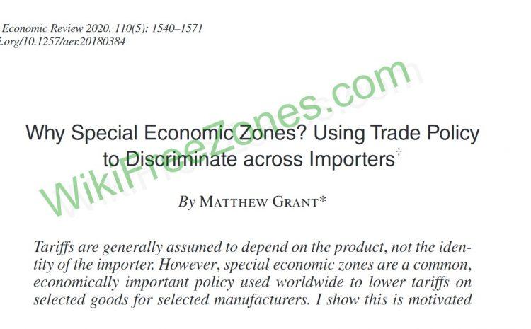 سند: چرا مناطق ویژه اقتصادی؟ استفاده از سیاستهای ترجیحی برای واردکنندگان